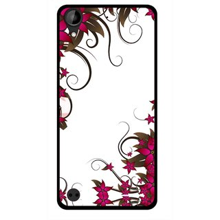 Snooky Printed Flower Creep Mobile Back Cover For HTC Desire 630 - Multi