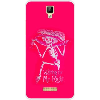 Snooky Printed Mr.Right Mobile Back Cover For Gionee P7 - Multicolour