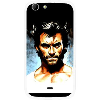 Snooky Printed Angry Man Mobile Back Cover For Micromax Canvas 4 A210 - Multicolour