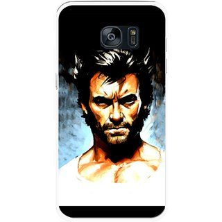 Snooky Printed Angry Man Mobile Back Cover For Samsung Galaxy S7 Edge - Multicolour