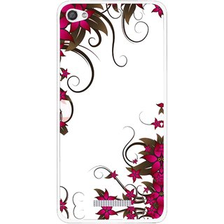 Snooky Printed Flower Creep Mobile Back Cover For Micromax Canvas Hue 2 - Multi