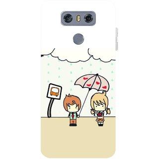Snooky Printed Feelings in Love Mobile Back Cover For LG G6 - Multicolour