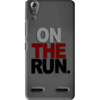 Snooky Printed On The Run Mobile Back Cover For Lenovo A6000 Plus - Multi