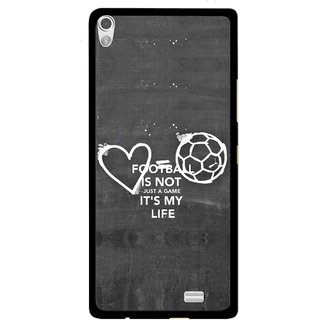 Snooky Printed Football Life Mobile Back Cover For Gionee Elife S5.1 - Multi
