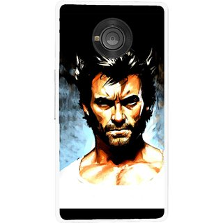 Snooky Printed Angry Man Mobile Back Cover For Micromax Yu Yuphoria - Multicolour