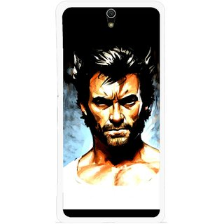 Snooky Printed Angry Man Mobile Back Cover For Sony Xperia C5 - Multicolour