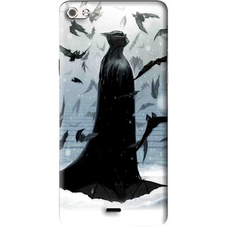 Snooky Printed Black Bats Mobile Back Cover For Micromax Canvas Sliver 5 Q450 - Multi
