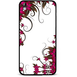 Snooky Printed Flower Creep Mobile Back Cover For HTC Desire 816 - Multi