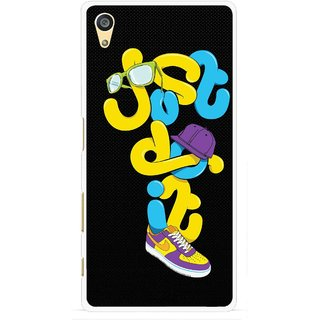Snooky Printed Just Do it Mobile Back Cover For Sony Xperia Z5 - Multi