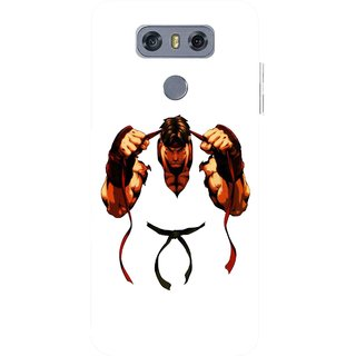 Snooky Printed Karate Boy Mobile Back Cover For LG G6 - Multicolour