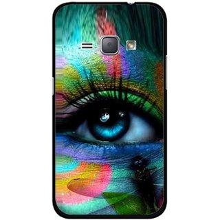 Snooky Printed Designer Eye Mobile Back Cover For Samsung Galaxy J1 - Multicolour