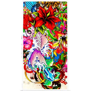 Snooky Printed Horny Flowers Mobile Back Cover For Sony Xperia Z - Multicolour
