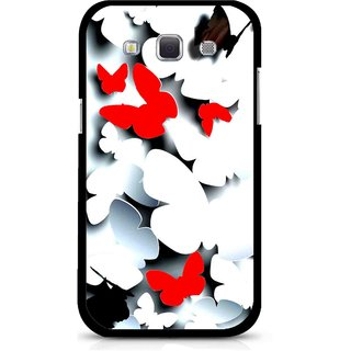 Snooky Printed Butterfly Mobile Back Cover For Samsung Galaxy 8552 - Multicolour