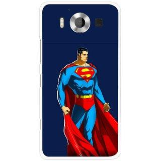 Snooky Printed Super Hero Mobile Back Cover For Microsoft Lumia 950 - Multicolour