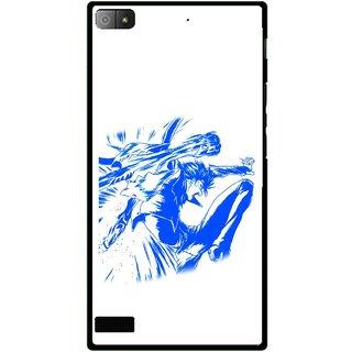 Snooky Printed Horse Boy Mobile Back Cover For Blackberry Z3 - Multi