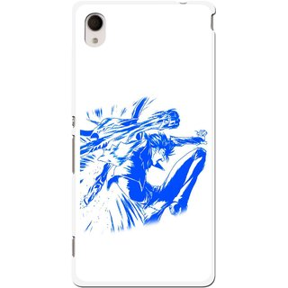 Snooky Printed Horse Boy Mobile Back Cover For Sony Xperia M4 - Multi