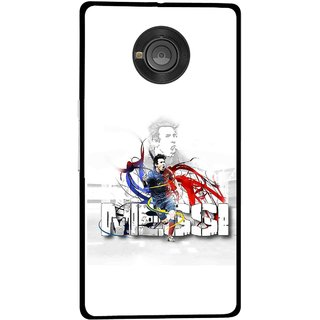 Snooky Printed Messi Mobile Back Cover For Micromax Yu Yuphoria - Multicolour