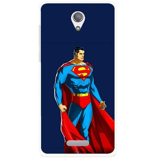 Snooky Printed Super Hero Mobile Back Cover For Gionee Marathon M4 - Multicolour