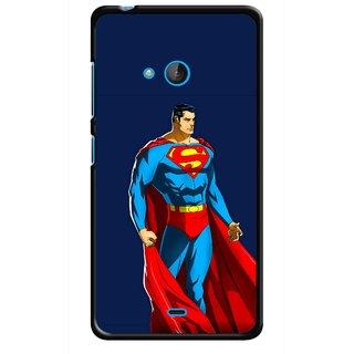 Snooky Printed Super Hero Mobile Back Cover For Nokia Lumia 540 - Multicolour
