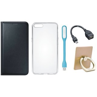 Lenovo K4 Note Stylish Cover with Ring Stand Holder, Silicon Back Cover, USB LED Light and OTG Cable