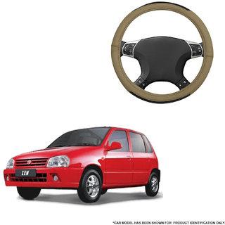 Autofurnish (AFSC-717 Hazel Beige) Leatherite Car Steering Cover For Maruti Zen