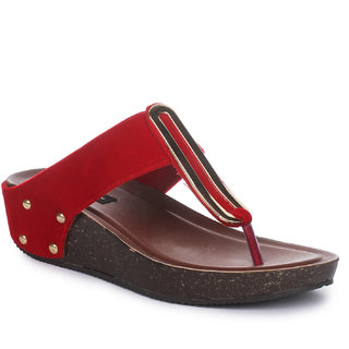 Funku Fashion Red Wedges Heels