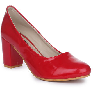 Funku Fashion Red Block Heels