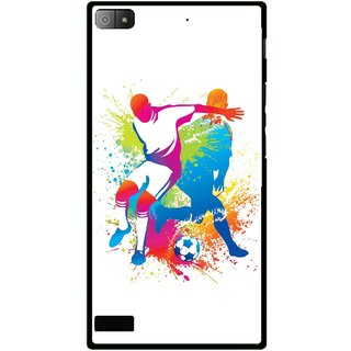 Snooky Printed Footbal Mania Mobile Back Cover For Blackberry Z3 - Multi