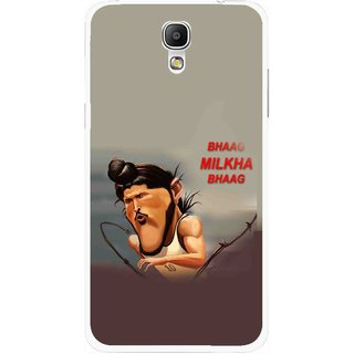 Snooky Printed Bhaag Milkha Mobile Back Cover For Samsung Galaxy Mega 2 - Multicolour