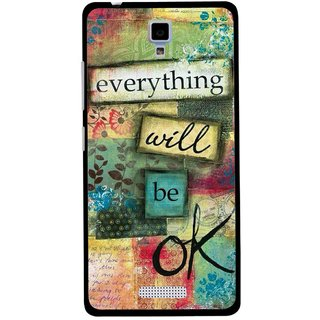 Snooky Printed Will Ok Mobile Back Cover For Gionee Pioneer P4 - Multicolour