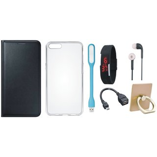 Lenovo K4 Note Stylish Cover with Ring Stand Holder, Silicon Back Cover, Digital Watch, Earphones, USB LED Light and OTG Cable
