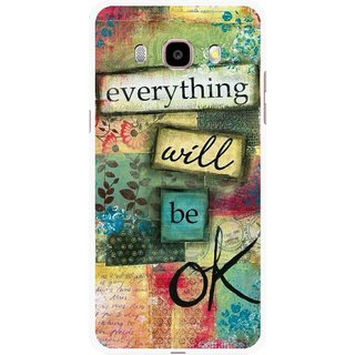 Snooky Printed Will Ok Mobile Back Cover For Samsung Galaxy J7 (2016) - Multicolour
