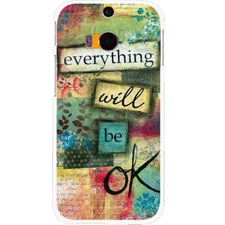 Snooky Printed Will Ok Mobile Back Cover For HTC One M8 - Multicolour