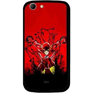 Snooky Printed Super Hero Mobile Back Cover For Micromax Canvas 4 A210 - Multicolour