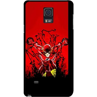 Snooky Printed Super Hero Mobile Back Cover For Samsung Galaxy Note 4 - Multicolour