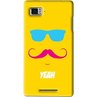 Snooky Printed Yeah Mobile Back Cover For Lenovo K910 - Multi