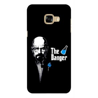 Snooky Printed The Danger Mobile Back Cover For Samsung Galaxy C7 - Multicolour
