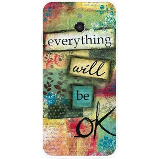 Snooky Printed Will Ok Mobile Back Cover For Infocus M2 - Multicolour