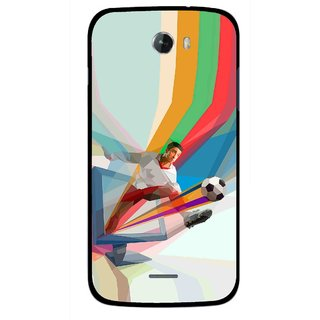 Snooky Printed Kick FootBall Mobile Back Cover For Micromax Bolt A068 - Multicolour