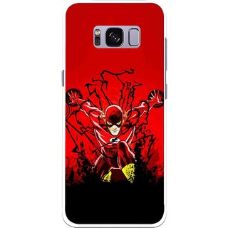 Snooky Printed Super Hero Mobile Back Cover For Samsung Galaxy S8 Plus - Multicolour