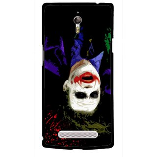 Snooky Printed Hanging Joker Mobile Back Cover For Oppo Find 7 - Multicolour