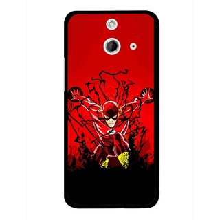 Snooky Printed Super Hero Mobile Back Cover For HTC One E8 - Multicolour