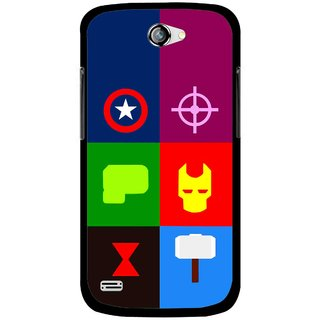 Snooky Printed Multi Heros Mobile Back Cover For Gionee Pioneer P3 - Multicolour