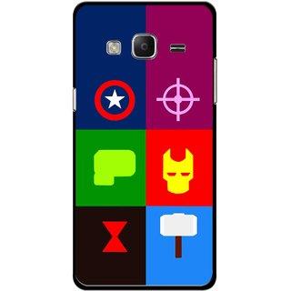 Snooky Printed Multi Heros Mobile Back Cover For Samsung Tizen Z3 - Multicolour