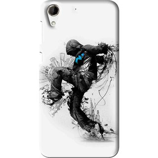 Snooky Printed Enjoying Life Mobile Back Cover For HTC Desire 728 - Multi