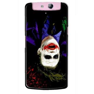 Snooky Printed Hanging Joker Mobile Back Cover For Oppo N1 - Multicolour