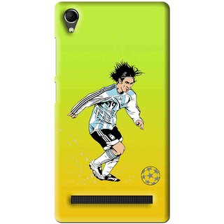 Snooky Printed Focus Ball Mobile Back Cover For Intex Aqua Power Plus - Multi