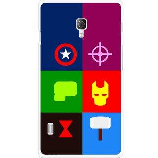 Snooky Printed Multi Heros Mobile Back Cover For Lg Optimus L7 II P715 - Multicolour