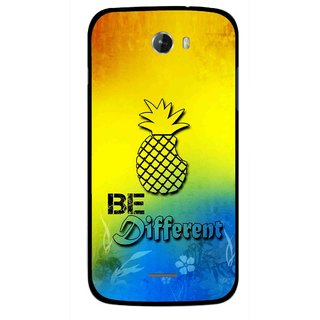 Snooky Printed Be Different Mobile Back Cover For Micromax Bolt A068 - Multicolour