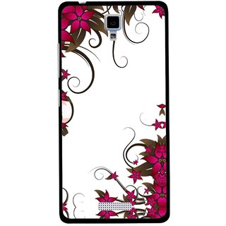 Snooky Printed Flower Creep Mobile Back Cover For Gionee Pioneer P4 - Multicolour
